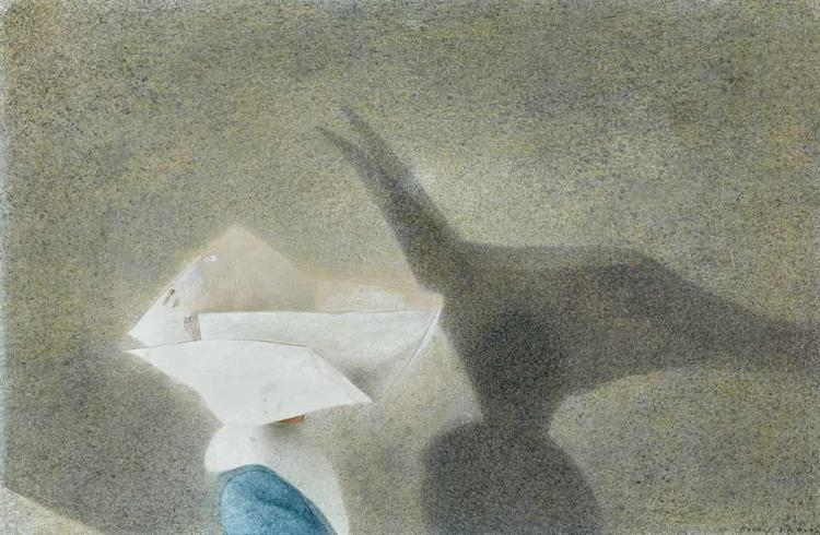 Robert Remsen Vickrey American, 1926-2011 The Shadow, circa 1960