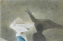 Robert Remsen Vickrey American, 1926-2011 The Shadow, circa 1960