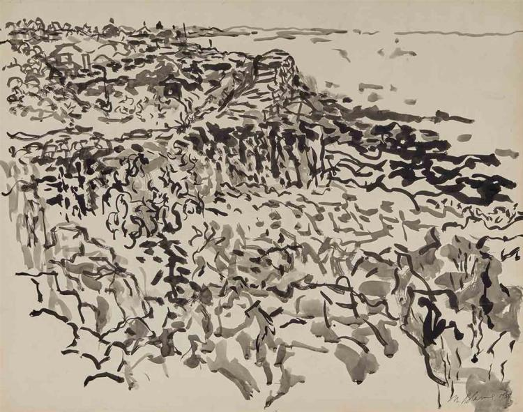 Nell Blaine American, 1922-1996 Lanesville Rocks and Coastline, 1958
