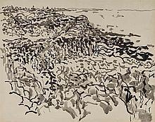 Nell Blaine American, 1922-1996 Lanesville Rocks and Coastline, 1958