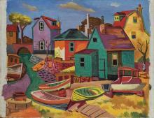 Jan Matulka American, 1890-1972 Untitled (New England Landscape)