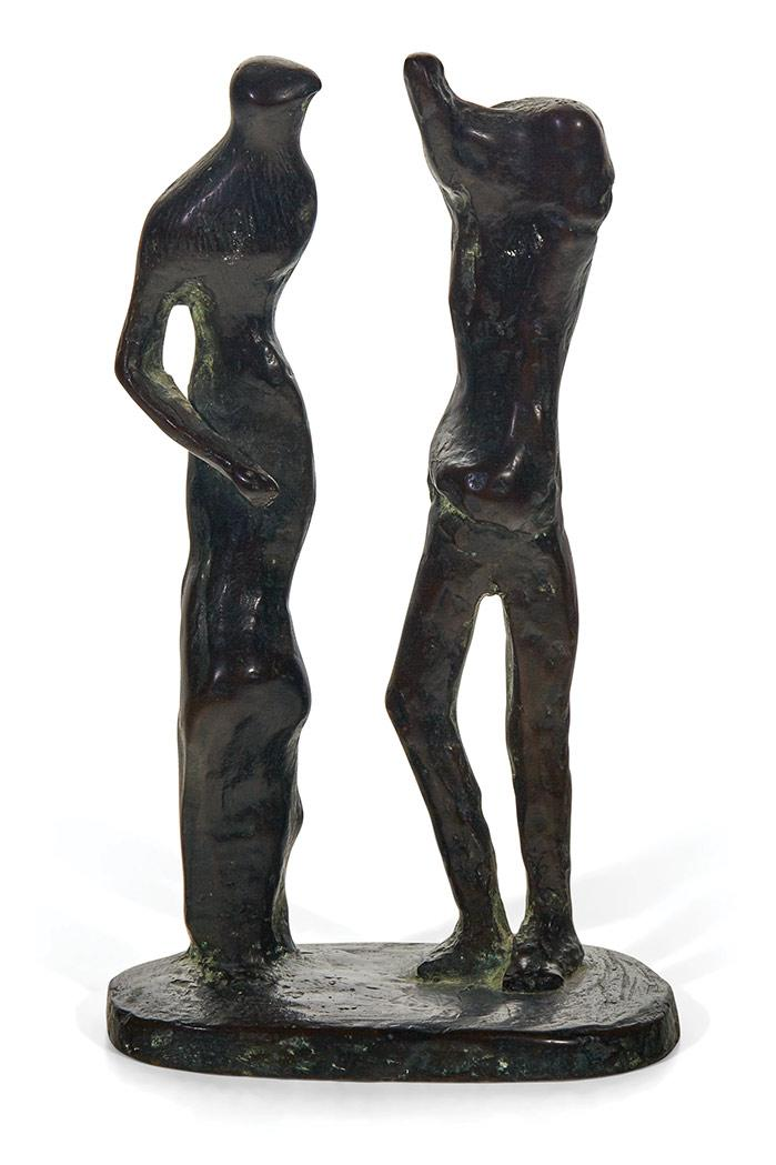 Henry Moore British, 1898-1986 Standing Man and Woman, 1981