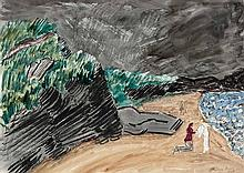 Milton Avery American, 1885-1965 Approaching Storm, 1938   Signed Milton Avery (lr), signed Milton Avery...