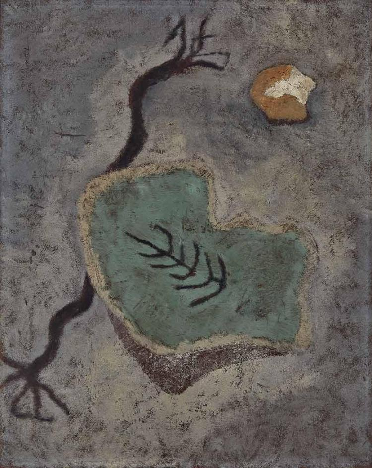 Theodoros Stamos Greek/American, 1922-1997 Found Rope and Stone on Beach, 1945