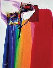 Paul Jenkins American, 1923-2012 Phenomena Merlin''s Prism, 1985