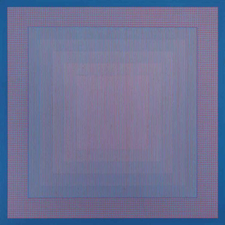 Julian Stanczak  Polish/American, b. 1928 Sounds of Rain, 1966