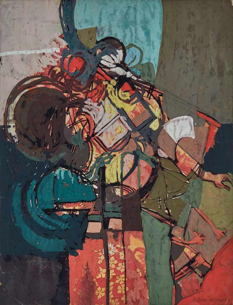 Ibrahim Hussein Malaysian, 1936-2009 Man and Zoo, 1964