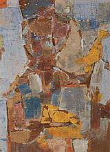 John Altoon American, 1925-1969, Untitled (Man with a Canary)