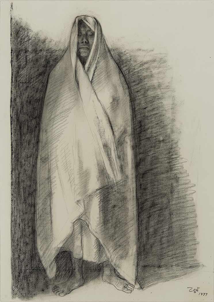Francisco Zuniga Costa Rican/Mexican, 1912-1998 Mujer Con Rebozo 1977