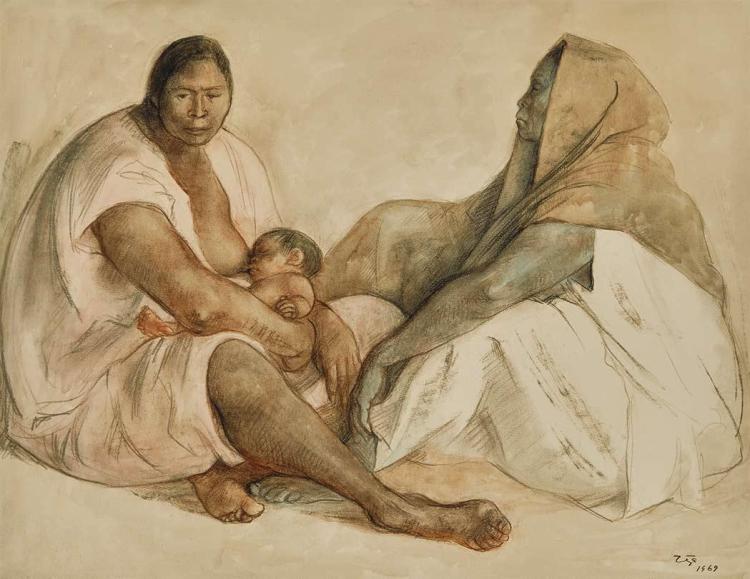 Francisco Zuniga Mexican, 1912-1998 Maternity, 1969