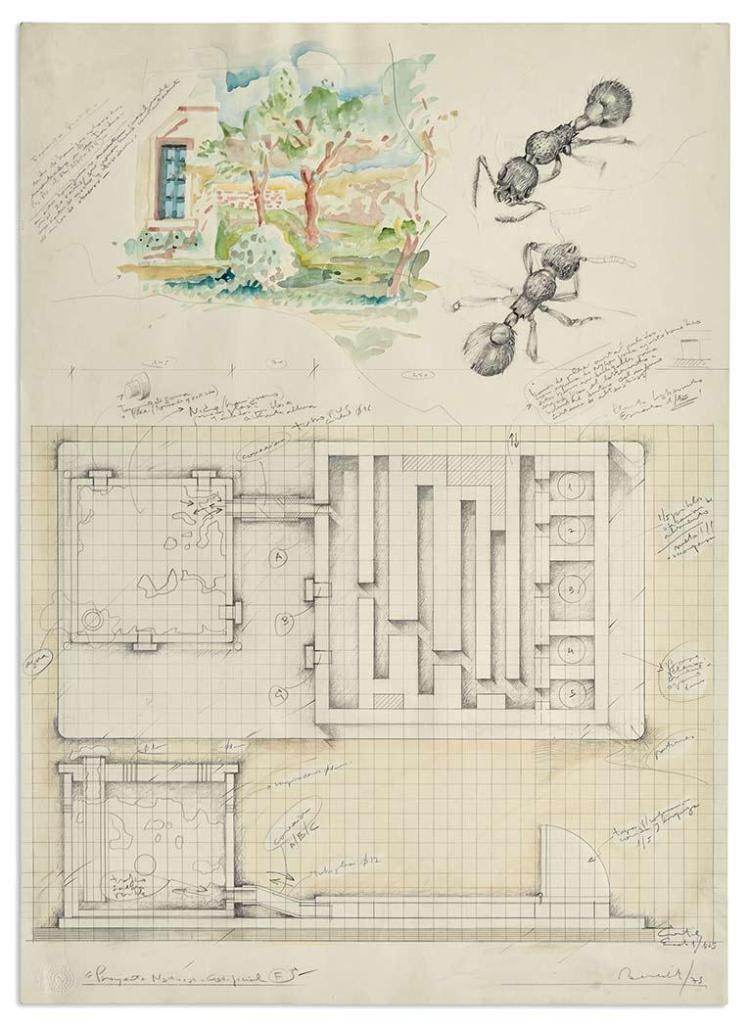 Luis Fernando Benedit Argentine, 1937-2011 Proyecto Naturje Certificial F, 1975