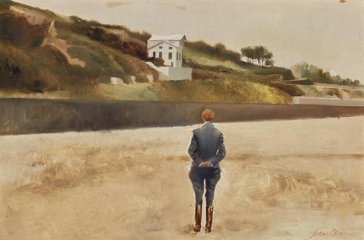Juan Cardenas Colombian, b. 1939 Landscape with the Back of a Man, 1983-84