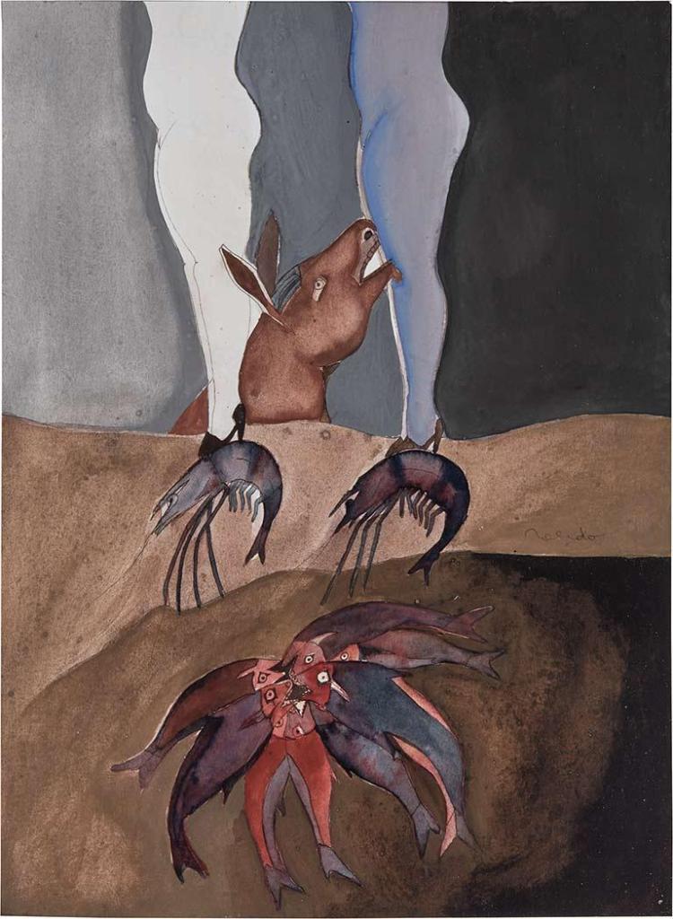 Francisco Toledo Mexican, b. 1940 Pisando Camarones, 1973