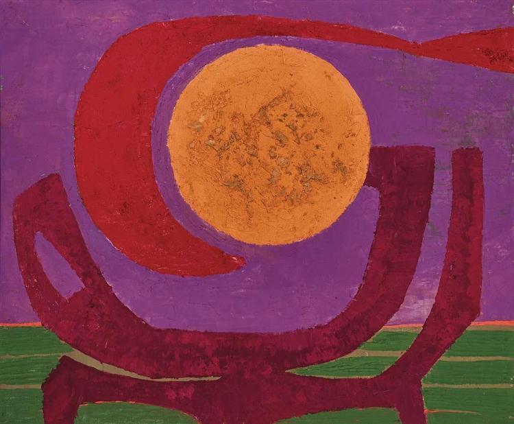 Pedro Coronel Mexican, 1923-1985 La Puesta del Sol, 1971
