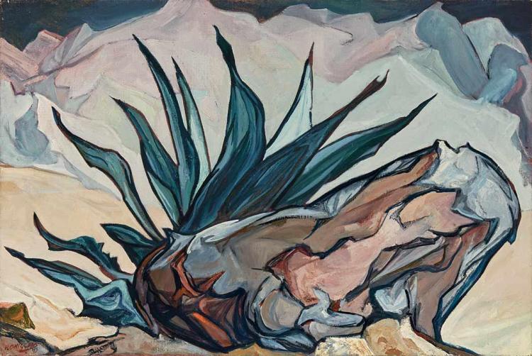 Pablo Esteban O''Higgins American/Mexican, 1904-1983 Cactus, 1973