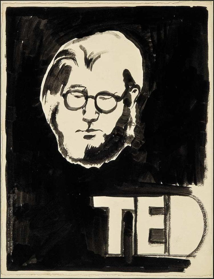 Joe Brainard American, 1942-1994 Ted (Portrait of Ted Berrigan)