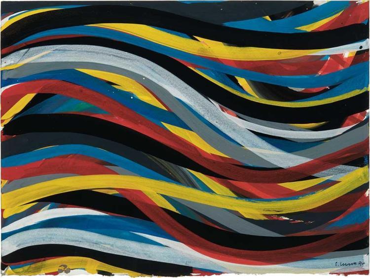 Sol LeWitt American, 1928-2007 Wavy Brushstrokes, 1995
