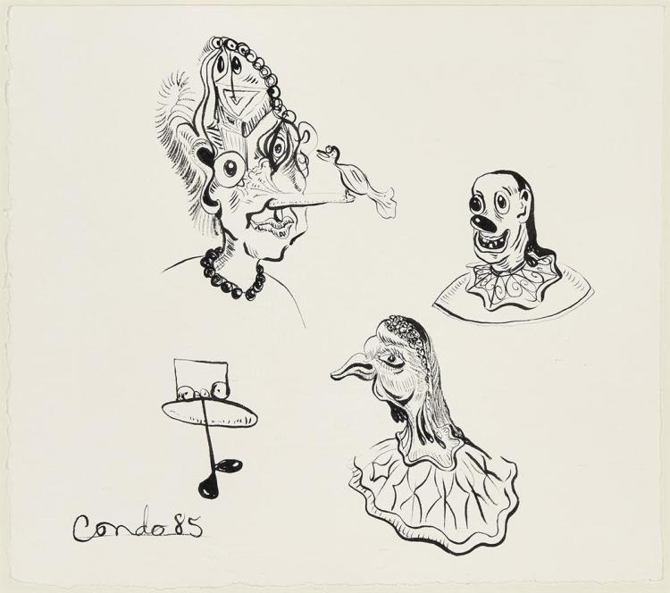 George Condo American, b. 1957 O.T., 1985