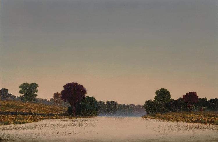 Stephen Hannock American, b. 1951 Flooded Pasture: Evening Rain, OK, 1999