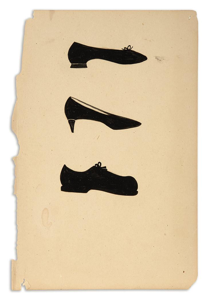 Margaret Kilgallen American, 1967-2001 (i) Untitled (Shoes), circa 1997 (ii) Untitled (Exhibition Invitation)