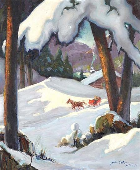 John Stevens Coppin American, 1904-1986 Dashing Through the Snow, 1951