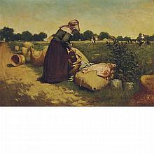 Harry Herman Roseland American, 1866-1950 In the Pea Field, 1887
