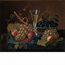 Severin Roesen American, 1815-1872 Still Life with Pilsner and Fruit