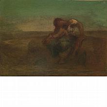 Robert Loftin Newman American, 1827-1912 Woman and Child