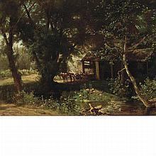 Hugh Bolton Jones American, 1848-1927 Old Mill, 1876
