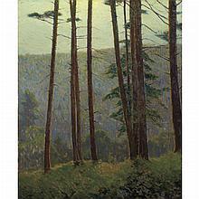 Charles Warren Eaton American, 1857-1937 In Pennsylvania Woods (Silhouette Pines), circa 1910-20
