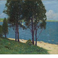 Charles Warren Eaton American, 1857-1937 Old Cedars, Connecticut Lake, circa 1900