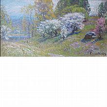 John Joseph Enneking American, 1841-1916 Apple Trees