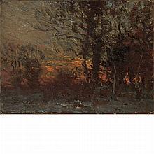 John Joseph Enneking American, 1841-1916 Sunset in the Woods