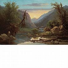 Thomas Hill American, 1829-1908 Mountainous Landscape, 1866
