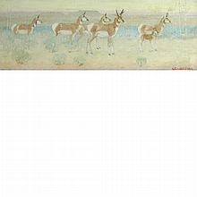 Edwin Willard Deming American, 1860-1942 Antelopes on the Prairie