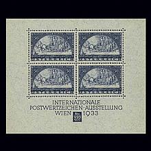 Austria Semi-Postals 1933 WIPA Souvenir Sheet Scott B111