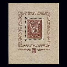 Liechtenstein 1934 Vaduz Souvenir Sheet Scott 115
