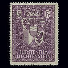Liechtenstein 1935 5Fr Coat of Arms Scott 131