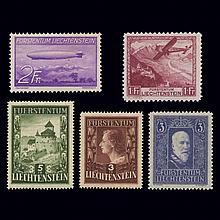 Liechtenstein Mint Stock 1933 to 1975