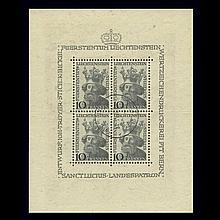 Liechtenstein Mint Sheets 1941 to 1979