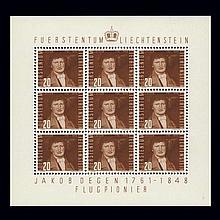 Liechtenstein Souvenir Sheets 1941 to 1965