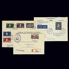 Liechtenstein Cover Group 1937 to 1952
