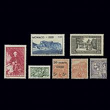Monaco Postage Stamp Collection 1919 to 1974