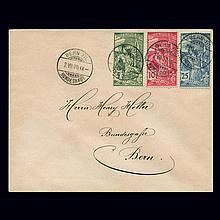 Switzerland 1900 25th UPU Anniversary Issue Scott 98-100 Zum. 77A-79A