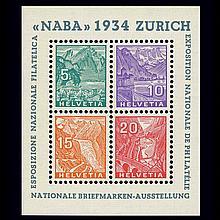Switzerland 1934 NABA Sheet Scott 226