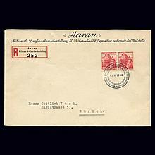 Switzerland 1938 20C Red San Salvatore Printed on Smooth Paper Scott 243, Zumstein 215y