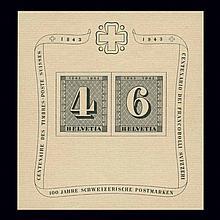 Switzerland Souvenir Sheet Group 1938 to 1971