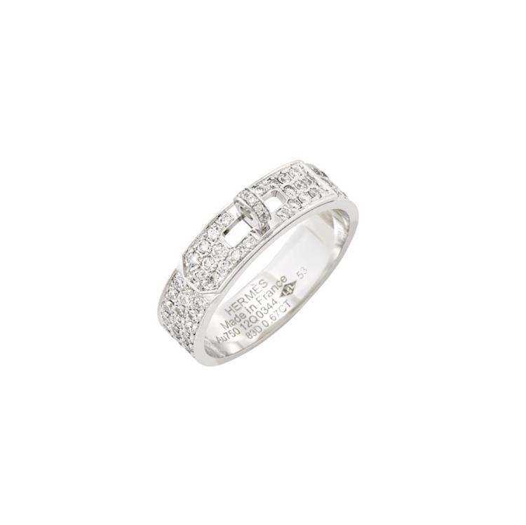 a277a5137403 ... get white gold and diamond kelly band ring hermes france c7517 404b1