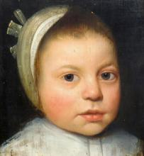 Dutch School  Early 17th Century Portrait of a Young Child