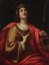 Circle of Guido Reni Saint Catherine of Alexandria